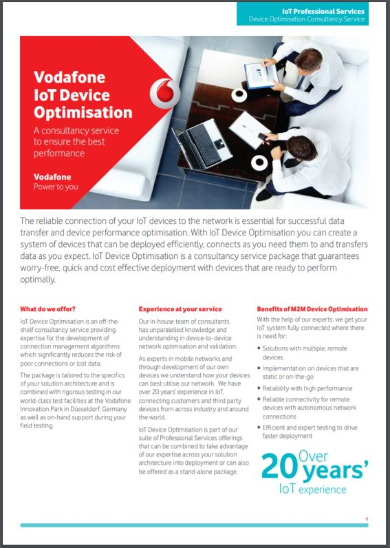 IoT device optimisation