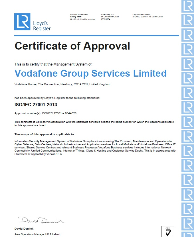 Vodafone-Group-Services-ISO27001-Cert